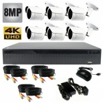 8mp Hd Security Camera System with 20m Ir, 6 x Bullet Cameras - 1080p